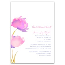 Floral Splash - Fuchsia - Invitation