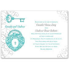 Love Unlocked Wedding Invitation