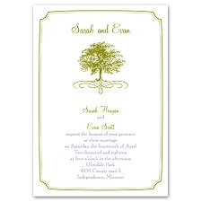 Majestic Oak Wedding Invitation