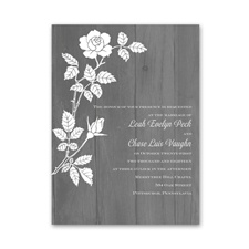 Rustic Rose Petite Wedding Invitation