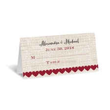 Heart Patch - Place Card