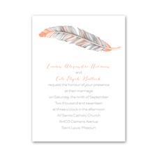 Pretty Feather Petite Wedding Invitation