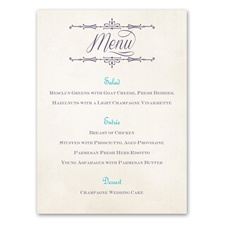 Charmed - Menu Card