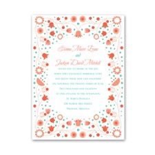 Fairy Floral Petite Wedding Invitation