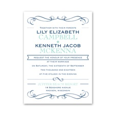 Exhilarating Petite Wedding Invitation