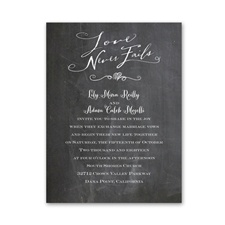 Love Never Fails Petite Wedding Invitation