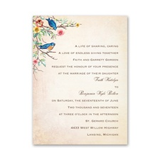 Bluebird Melody Petite Wedding Invitation