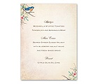 Bluebird Melody - Menu Card