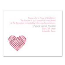 Heart of Hearts - Reception Card