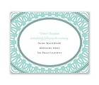 Moroccan Lace - Reception Card
