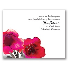 Floral Passion - Fuchsia - Reception Card