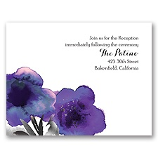 Floral Passion - Violet - Reception Card