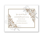Filigree Leaves - Reception Card