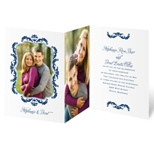 Flourish Crest Photo Wedding Invitation