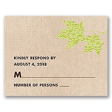 Leaves of Lace - Response Card