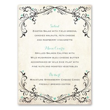 Blossoming Love - Menu Card