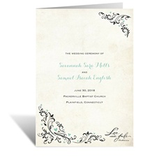 Blossoming Love - Wedding Program