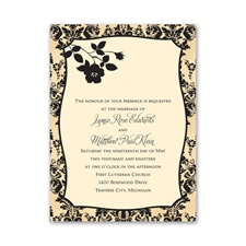French Floral - Invitation