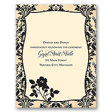 French Floral - Reception Card