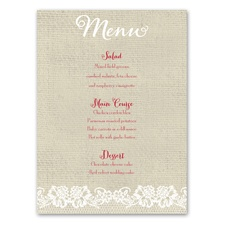 Country Details - Menu Card