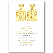 Beautiful Brides Wedding Invitation
