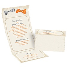 Handsome Pair Seal and Send Wedding Invitation