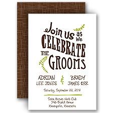 Celebrate the Grooms Wedding Invitation