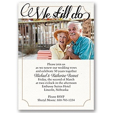We Still Do - Vow Renewal Invitation
