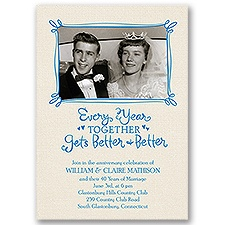 Better and Better - Anniversary Invitation