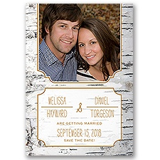 Birch Bark Frame Save the Date