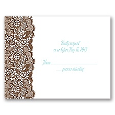Woodgrain and Lace - Response Card