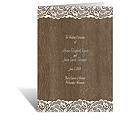 Woodgrain and Lace - Wedding Program