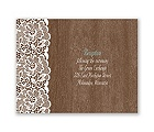 Woodgrain and Lace - Reception Card