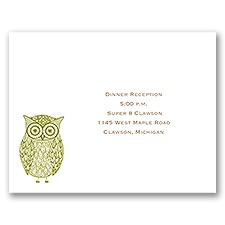 Kaleidoscope Owl - Reception Card