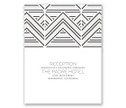 Layered Chevron - Reception Card