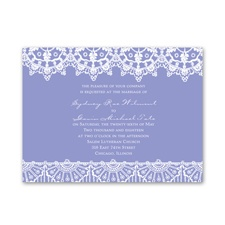 Exotic Lace Petite Wedding Invitation