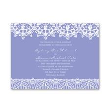 Exotic Lace Petite Wedding Invitation