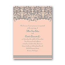 Lacy Romance Petite Wedding Invitation