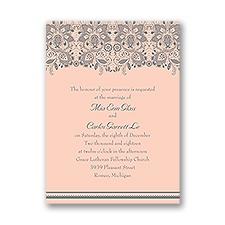 Lacy Romance Petite Wedding Invitation