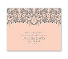 Lacy Romance - Reception Card