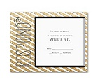 Gold Stripes - Faux Glitter - Response Card