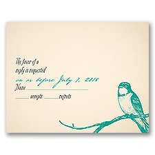 Perched Lovebirds - Response Card