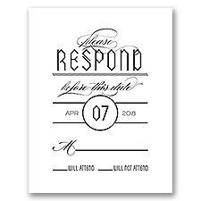 Trendy Typography - Response Card