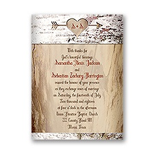 Aged Birch Petite Fall Wedding Invitation