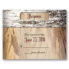 Aged Birch - Response Card