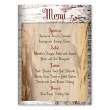 Birch Bark Heart - Menu Card