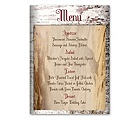 Birch Bark Heart - Menu Card