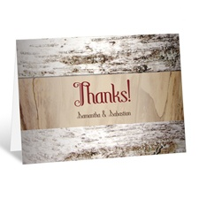 Birch Bark Heart - Thank You Card