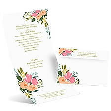Painted Petals Seal and Send Wedding Invitation