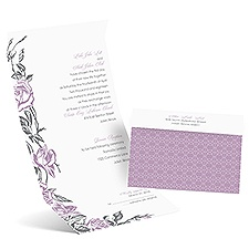 Rose Impression Seal and Send Wedding Invitation